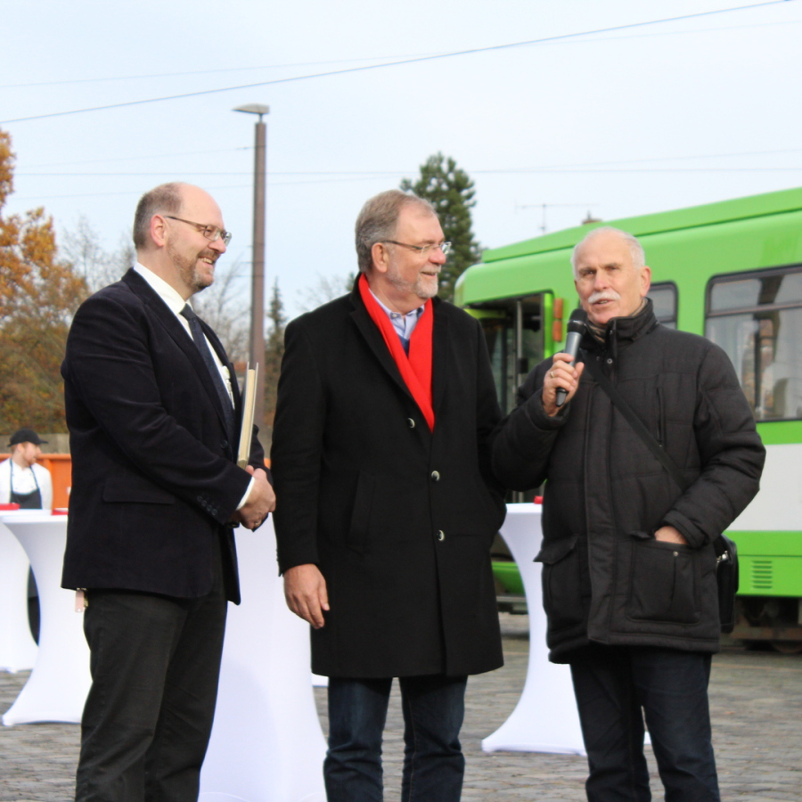 von Links: Fritz Faupel, Wilhelm Lindenberg, Hans Folgner