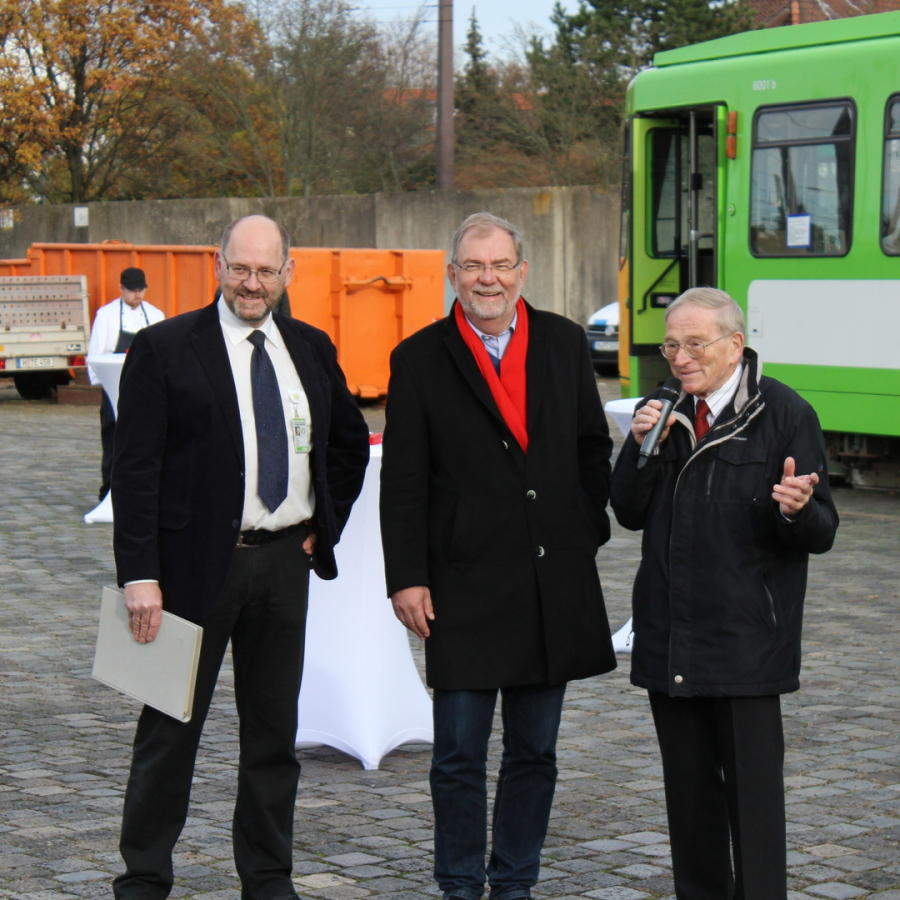 von Links: Fritz Faupel, Wilhelm Lindenberg, Hans Ahlbrecht